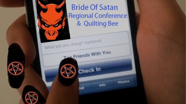 facebookcheckinsatan