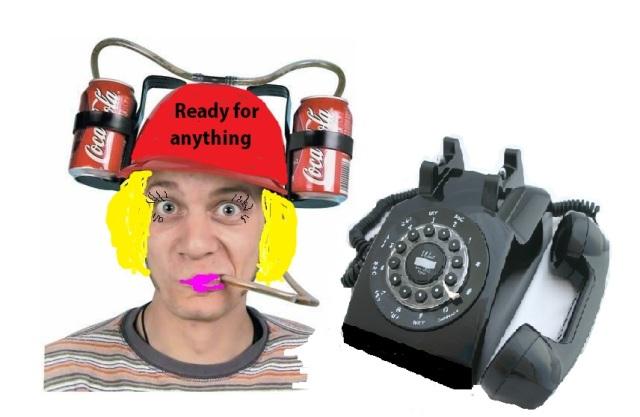 onholdphoneandhat